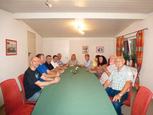 Die Vorstandschaft bei einer Sitzung