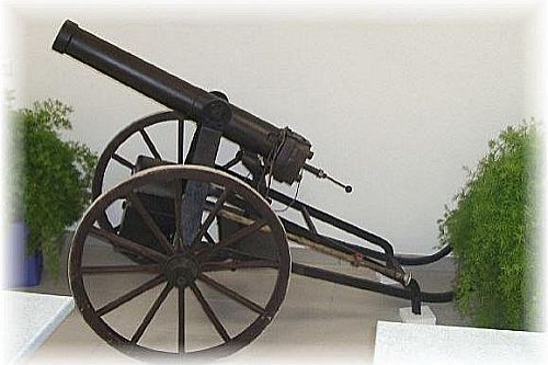 Hinterladerkanone aus dem Jahre 1900 im Kaliber 50 mm